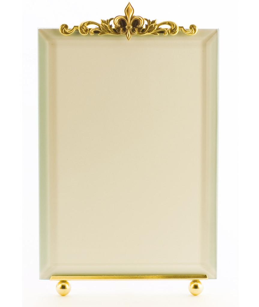 La Paris Fleur-De-Lis 3.5 x 5 Inch Brass Picture Frame - Vertical ...