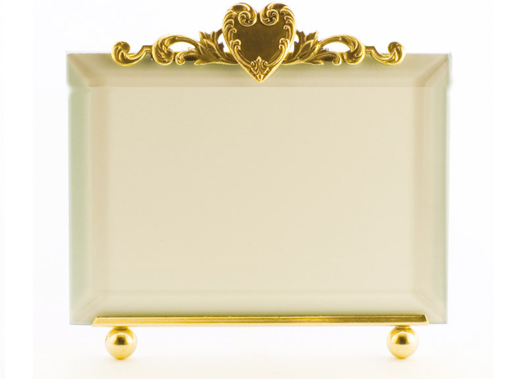 La Paris French Heart 8 X 10 Inch Brass Picture Frame Horizontal