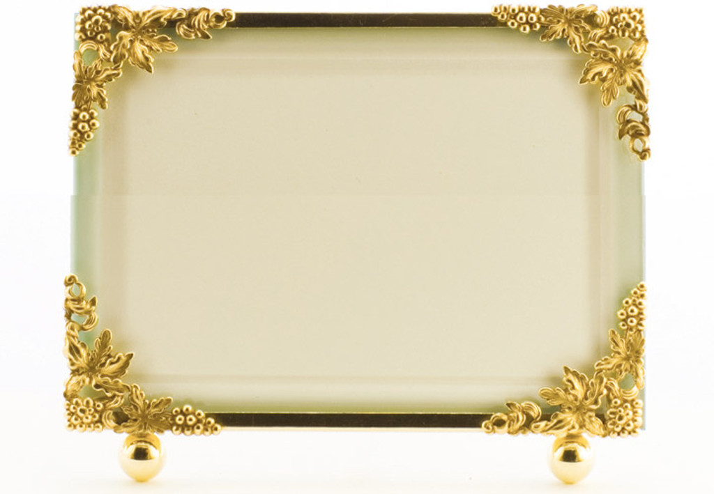 La Paris Grapevine 8 x 10 Inch Brass Picture Frame - Horizontal ...