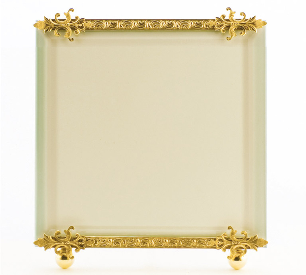 La Paris Romanesque 10 x 10 Inch Brass Picture Frame - HomeBello