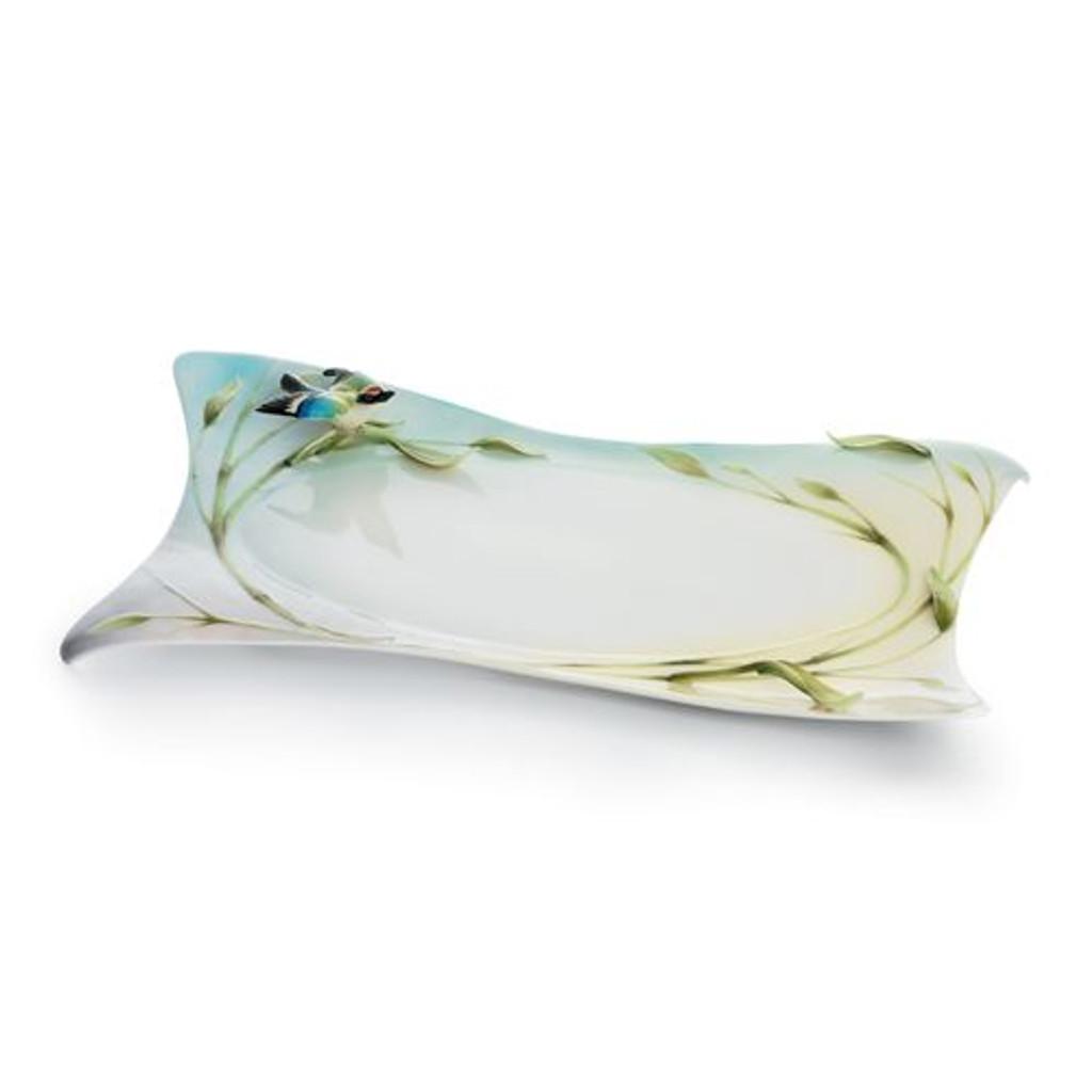 Franz Porcelain Bamboo Song Bird Ornamental Platter