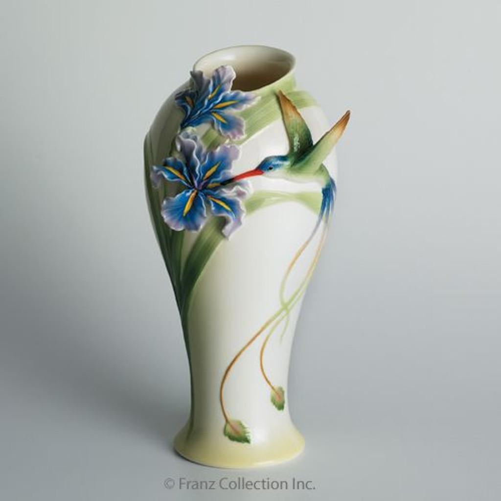 Franz Porcelain Long Tail Hummingbird Vase Fz00711 Upc 837009005688