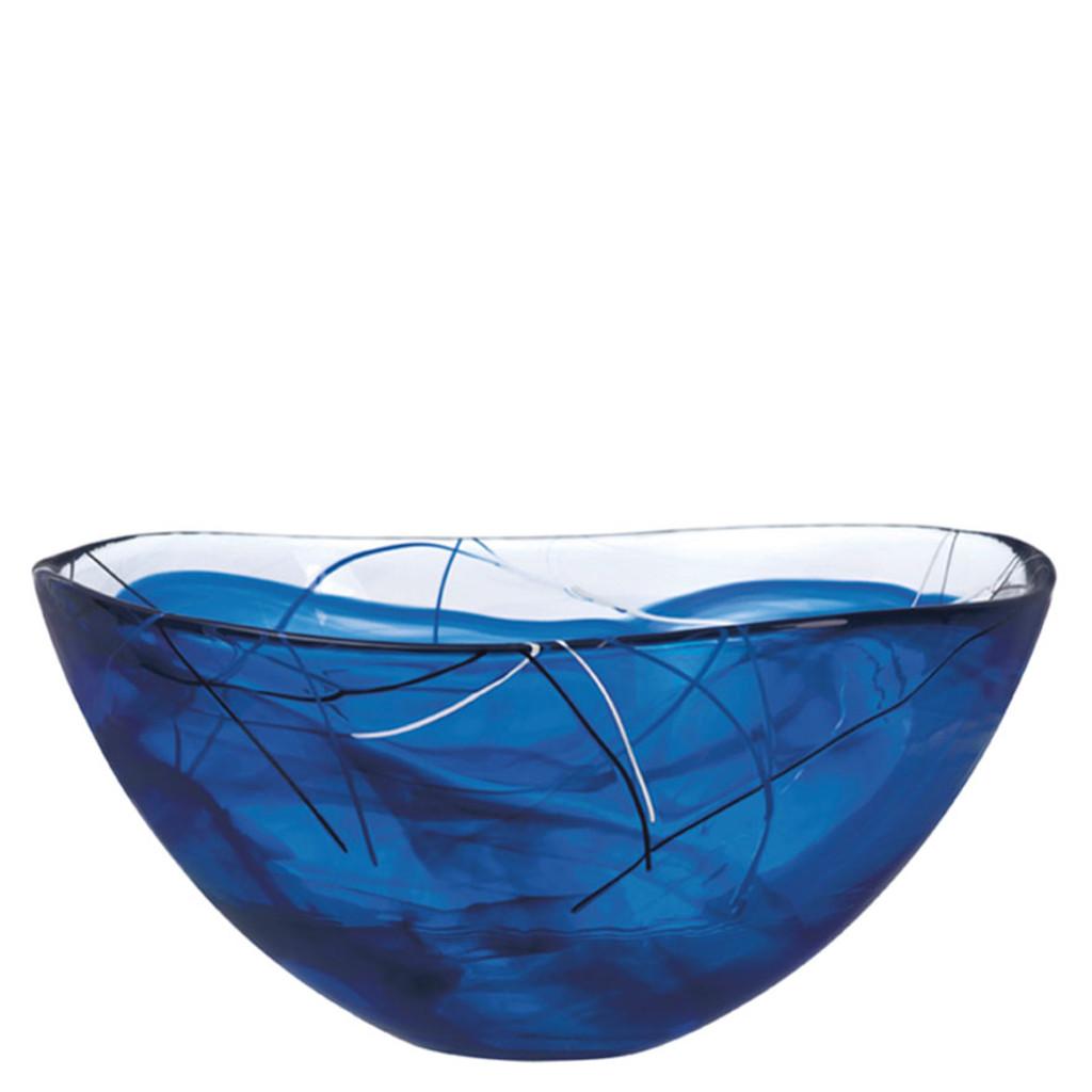 Contrast Bowl Blue Large By Kosta Boda Engravable Homebello
