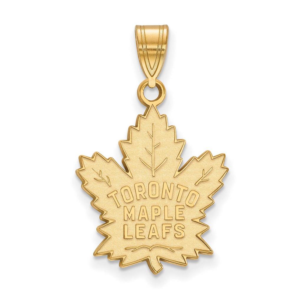 Toronto Maple Leafs Large Pendant 10k Yellow Gold 1y004mle