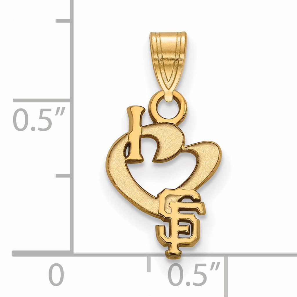 San francisco giants small i love logo pendant gold plated for Sf contact nackenkissen small