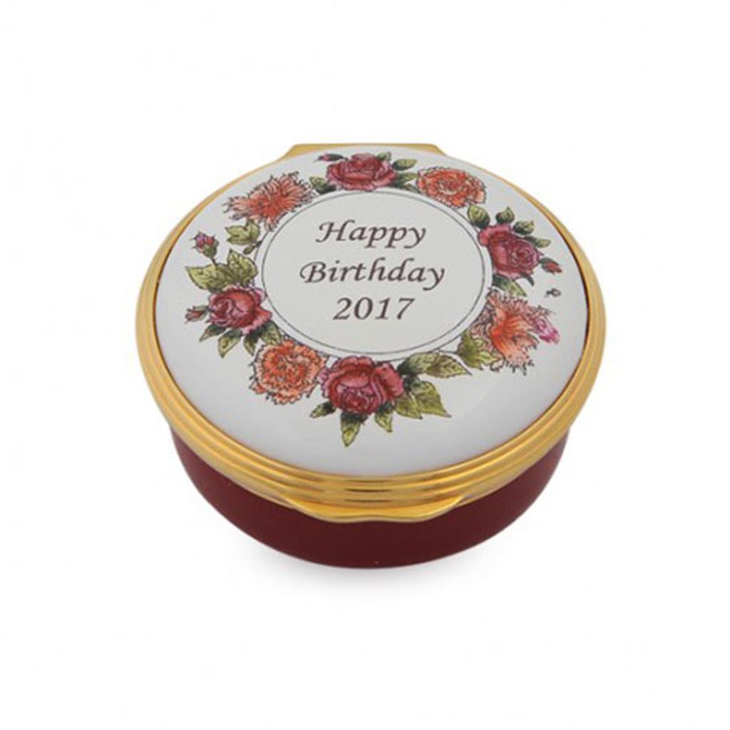 Halcyon Days 2017 Happy Birthday Box ENHB170601G EAN: 5060171157809