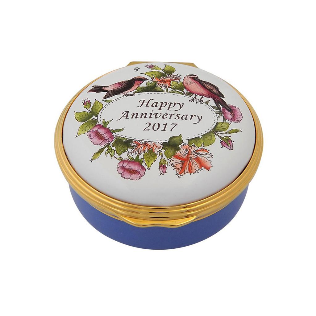 Halcyon Days 2017 Happy Anniversay Box ENHA171201G EAN: 5060171157816