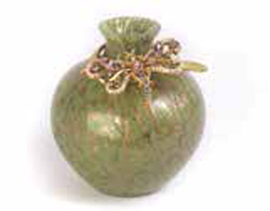 Jay Strongwater Alice Leaf Dragonfly Vase MPN: SDH6583-229