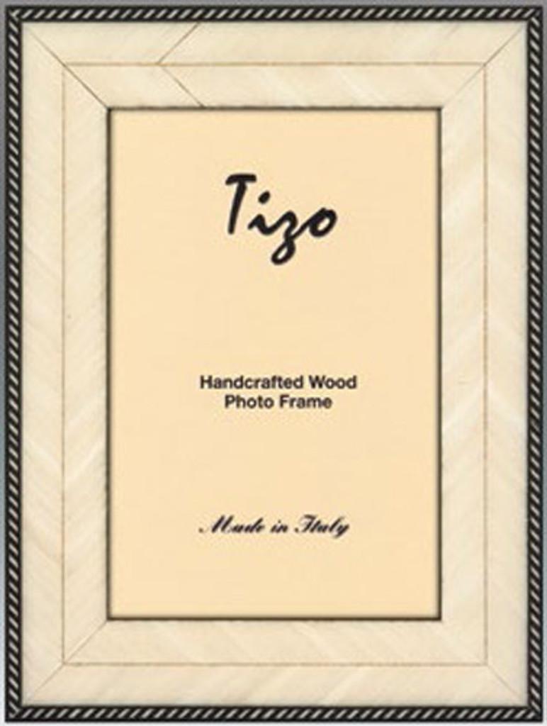 Tizo White Thin Zebars Wooden Picture Frame 5 X 7 Inch Homebello