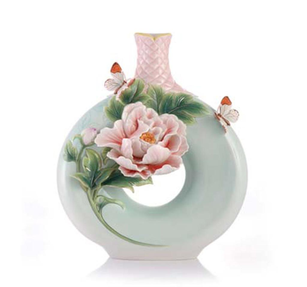Franz Porcelain Franz Porcelain Vase Peony Fz03418 817714014458