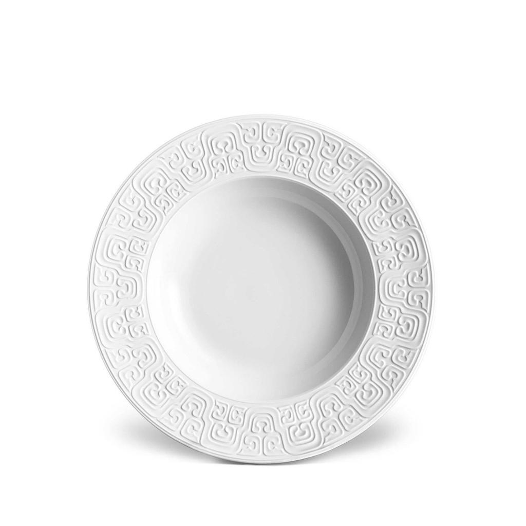 L'Objet Han Soup Plate 9 Inch - White MPN: HN130