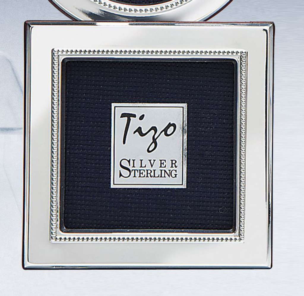 Tizo Inner Bead 5 x 5 Inch Sterling Silver Picture Frame Engravable ...