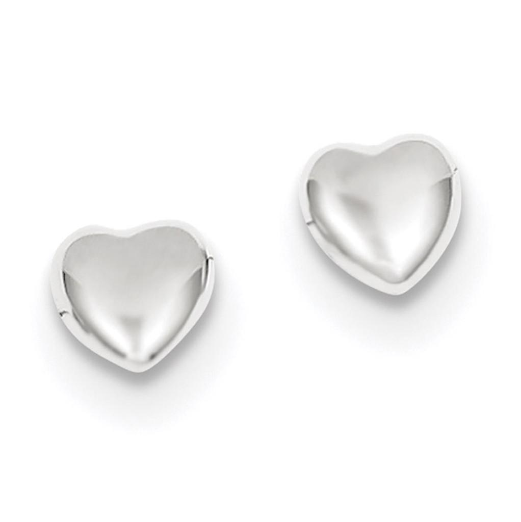 Heart Earrings 14k white Gold MPN: YE300W
