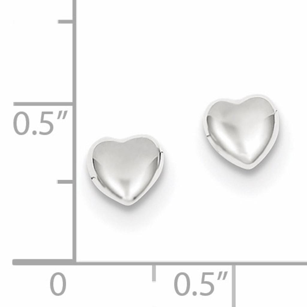 Heart Earrings 14k white Gold YE300W