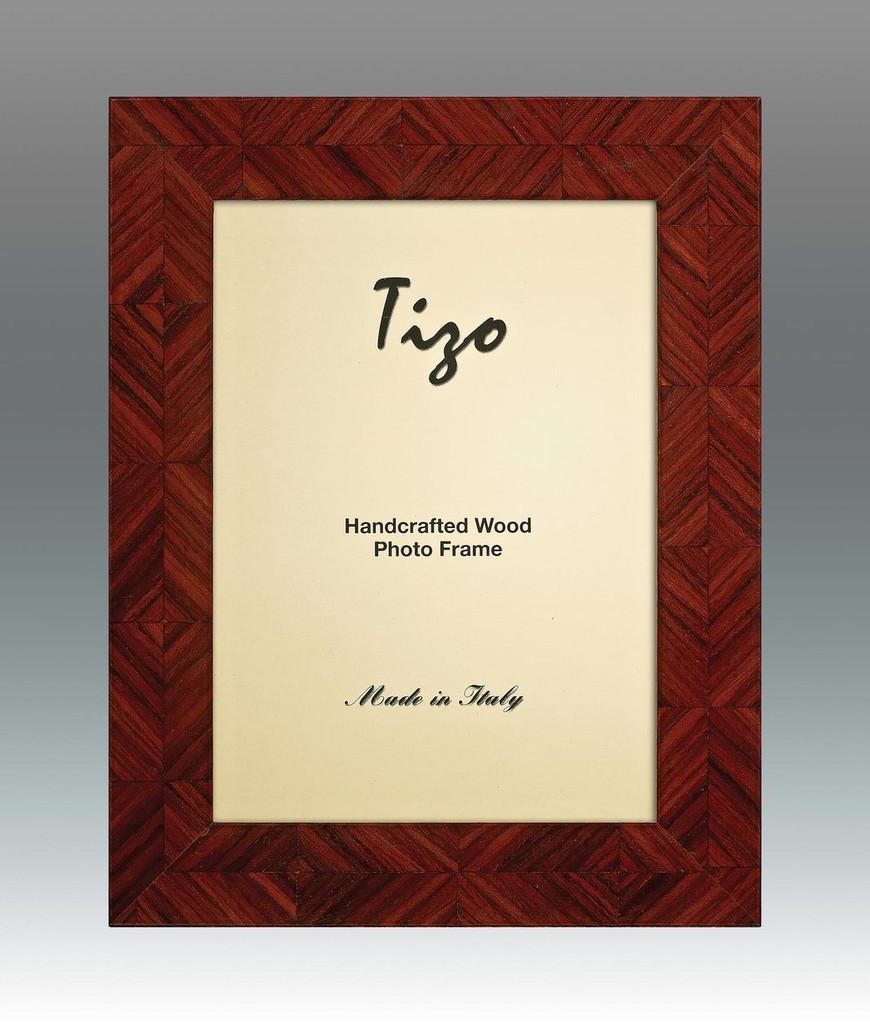 Tizo Lozenge 8 x 10 Inch Wood Picture Frame - Brown - HomeBello