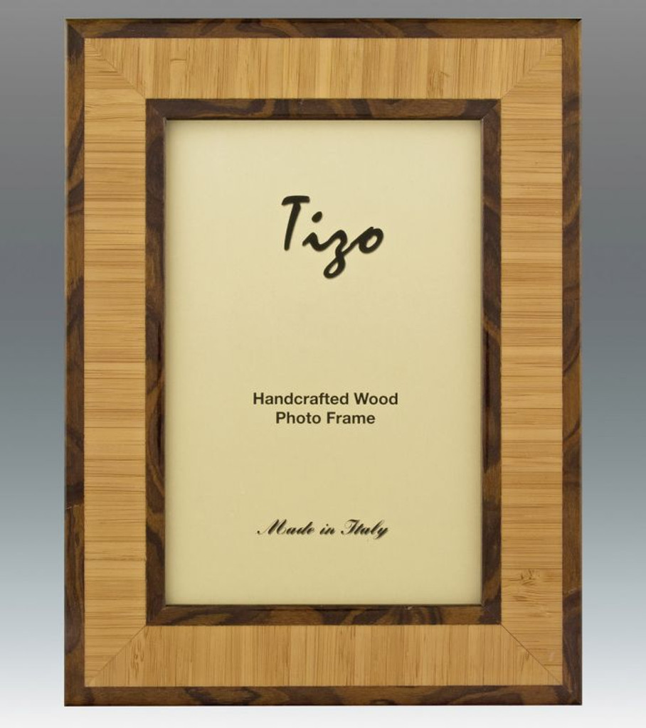 Tizo 8 x 10 Inch Double Chocolate Wood Picture Frame - HomeBello