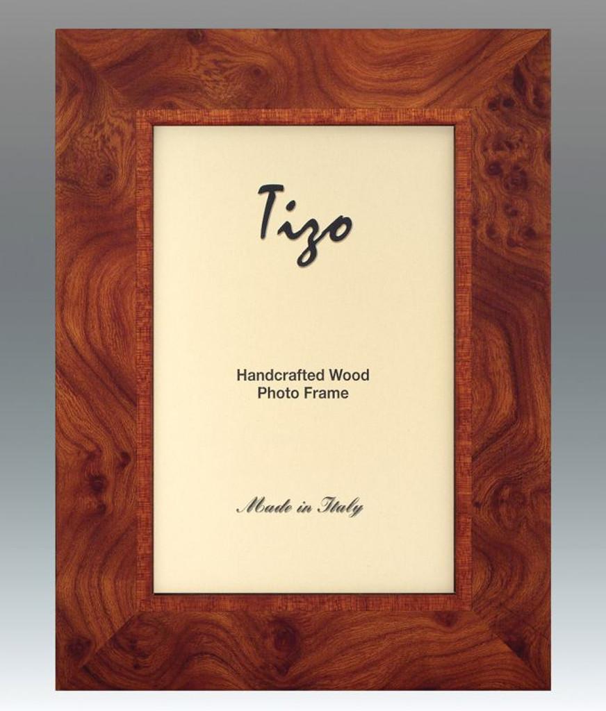 Tizo 8 x 10 Inch Mat Finish Matte Brown Wood Picture Frame - HomeBello
