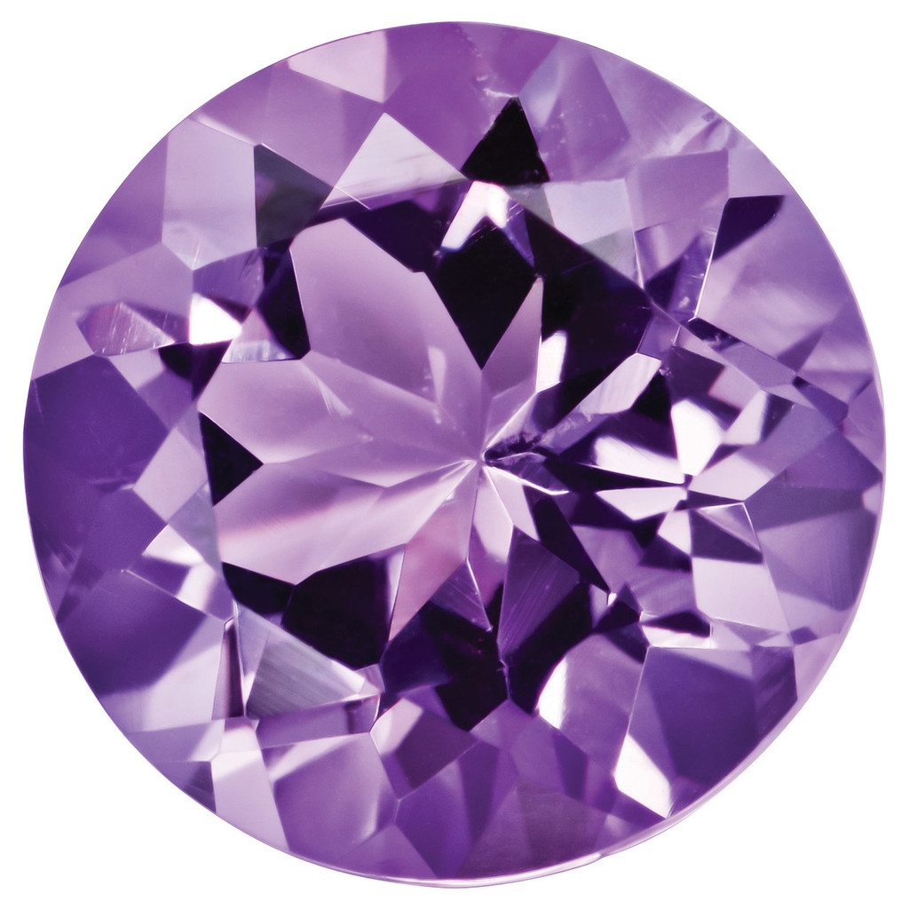 Amethyst 2mm Round Gemstone, MPN: AM-0200-RDF-AA
