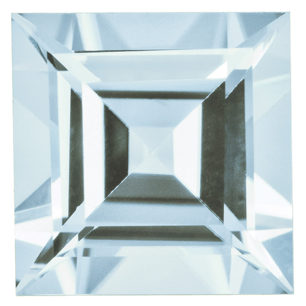 Aquamarine 5mm Square Step Cut Gemstone, MPN: AQ-0500-SQS-AA