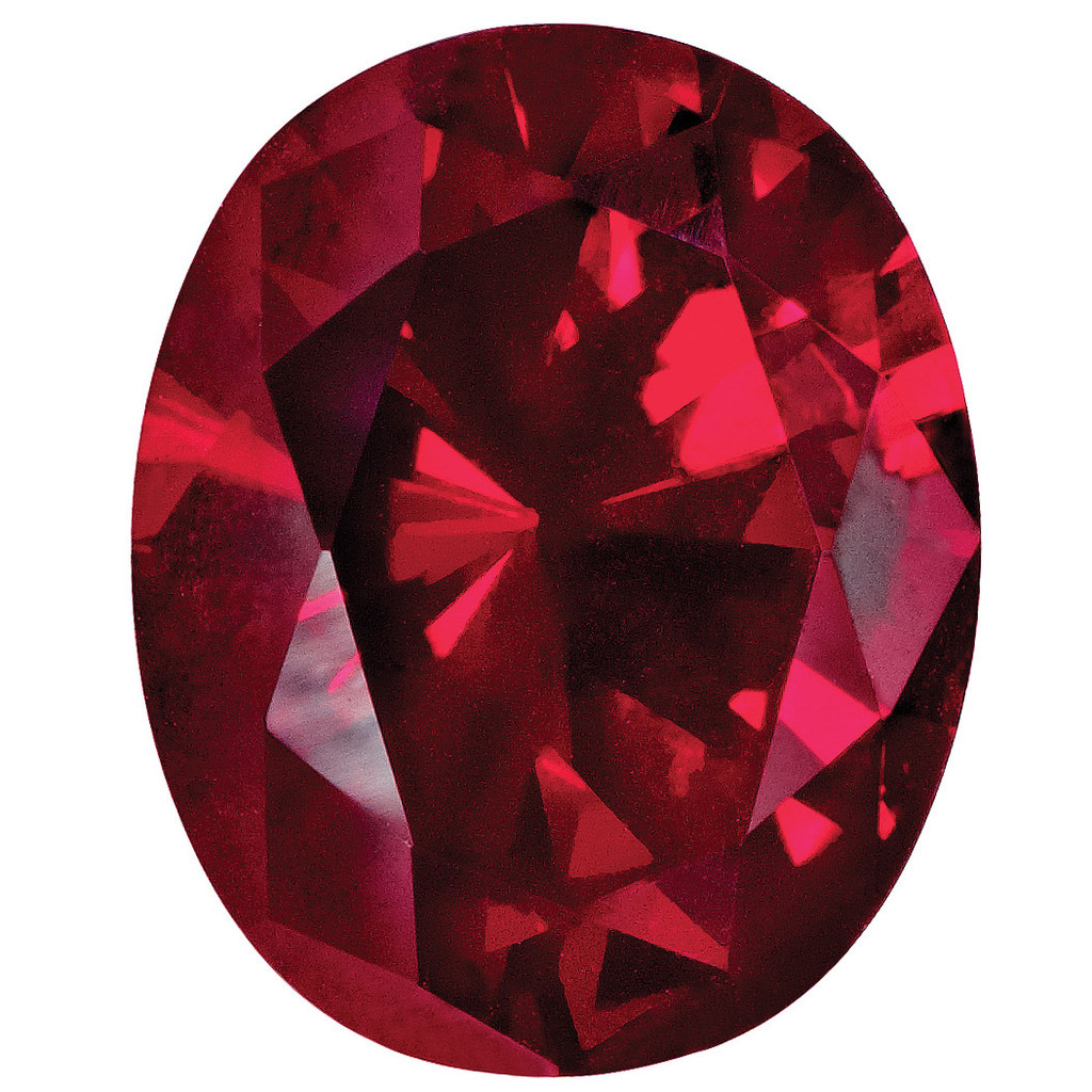 Created Ruby 10X8mm Oval Gemstone, MPN: CR-1008-OVF