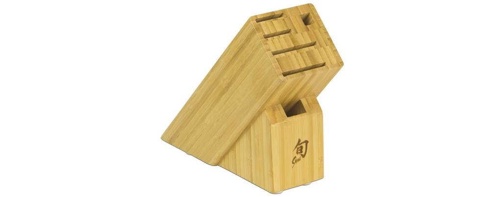 Shun Bamboo Slimline Block 6-Slot, MPN: DM0845, UPC/EAN: 87171048307