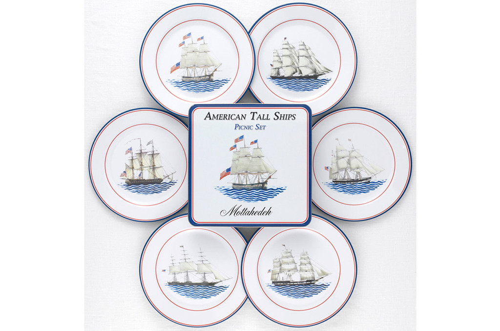 Mottahedeh American Ships Picnic Set of 4, MPN: T1981.