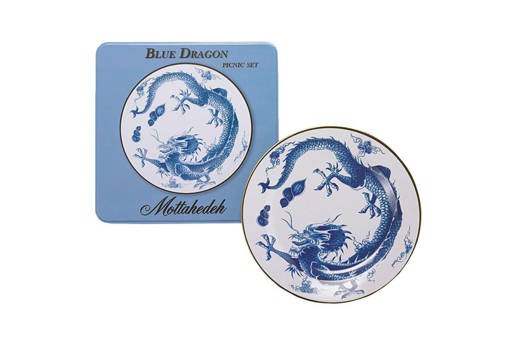 Mottahedeh Blue Dragon Picnic Set of 4, MPN: T6200.