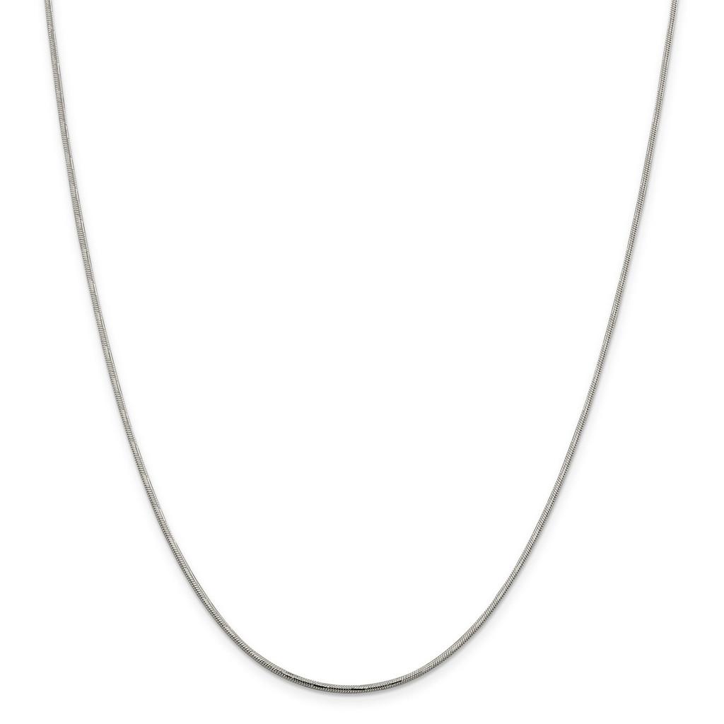 1.65 mm Diamond-Cut Round Snake Chain Sterling Silver, MPN: QSD2, UPC: 886774408453