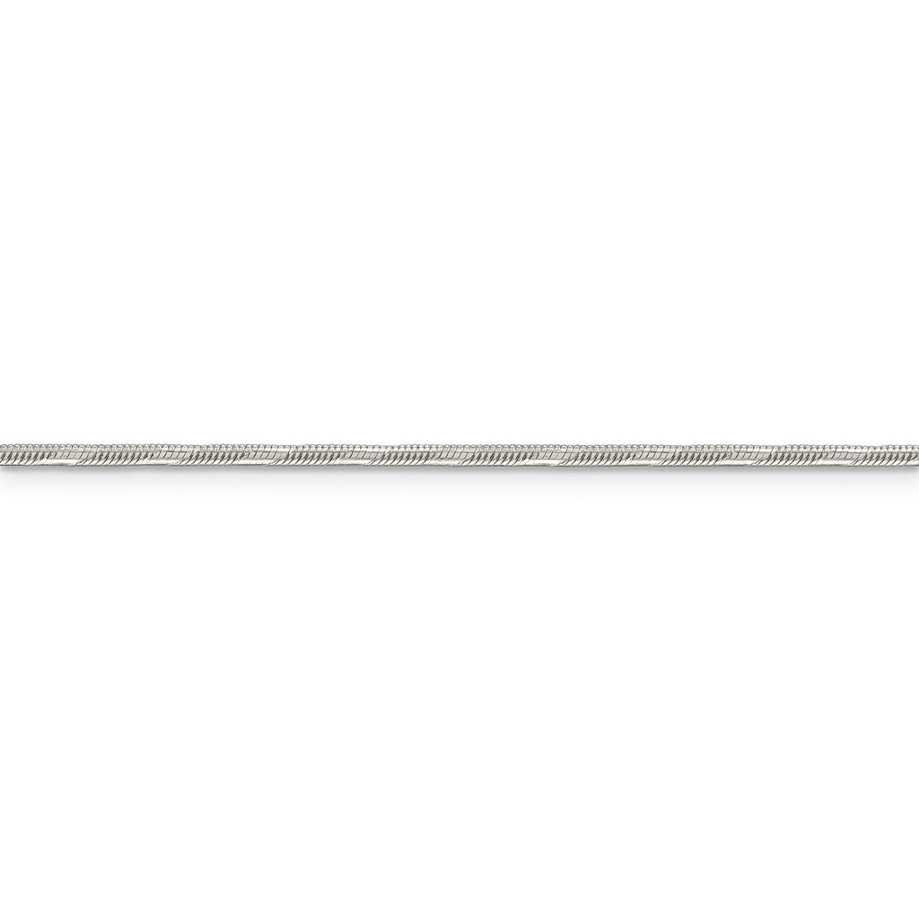 1.65 mm Diamond-Cut Round Snake Chain Sterling Silver QSD2-16