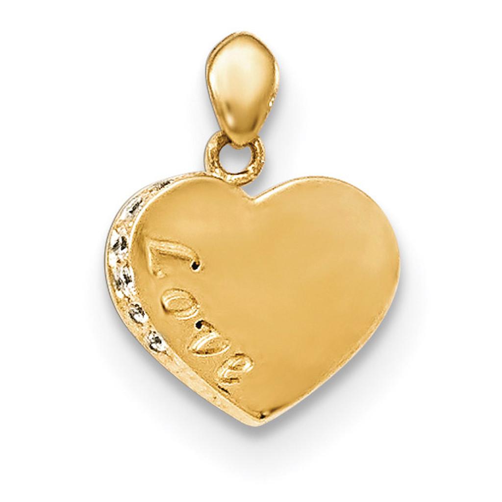 CZ Children's Love Heart Pendant 14k Gold MPN: YC1143 UPC: 191101526961