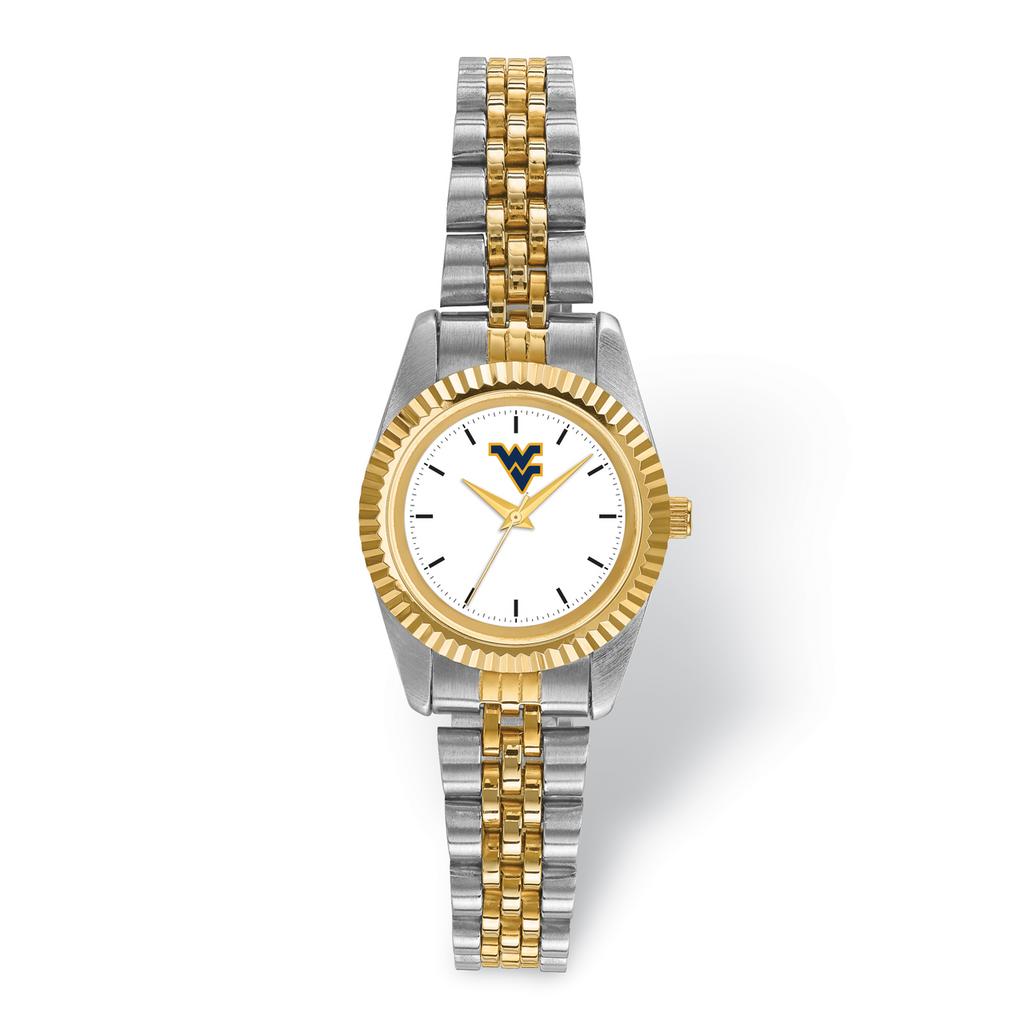 West Virginia University Pro Two-tone Ladies Watch MPN: WVU167 UPC: 191101125058