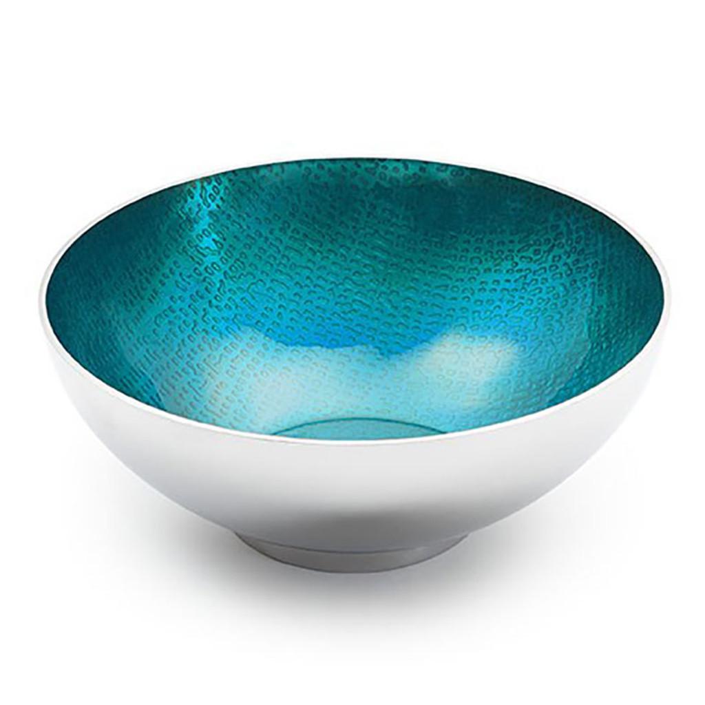 """Mary Jurek Symphony Turquoise Round Bowl 4.5"""" MPN: SYPH005.4, UPC: 817658012749"""