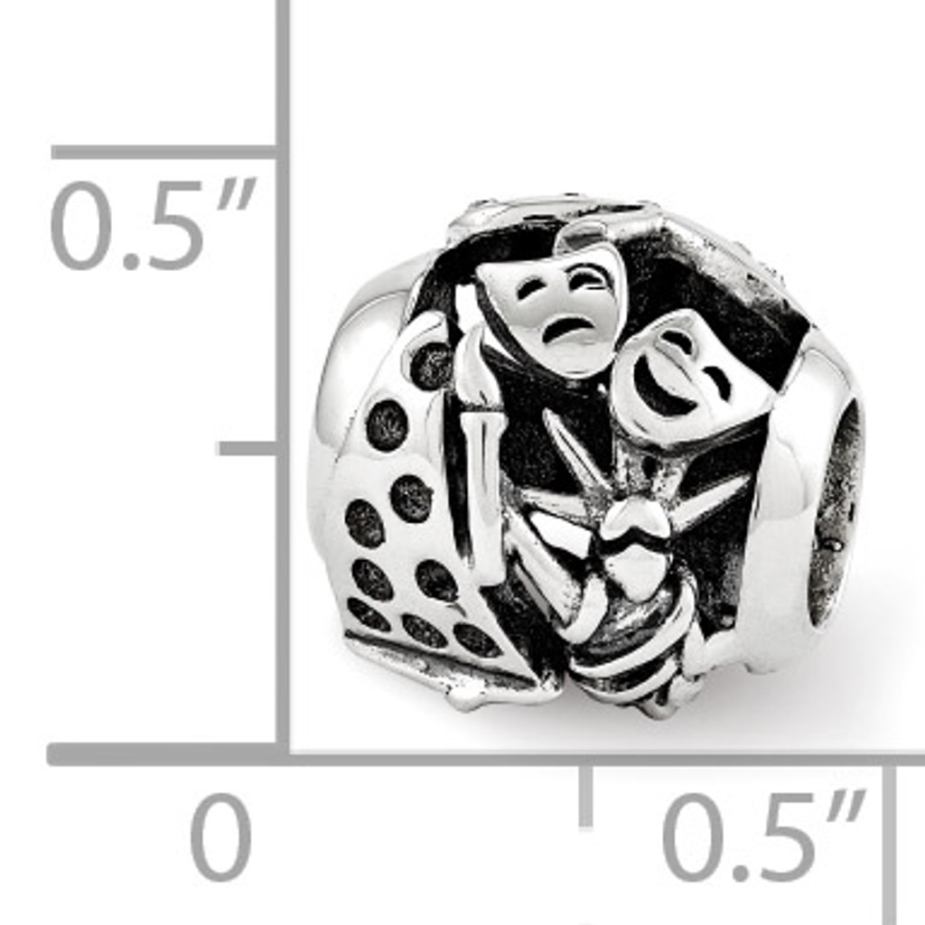 Swarovski New York Collage Bead - Sterling Silver QRS3429