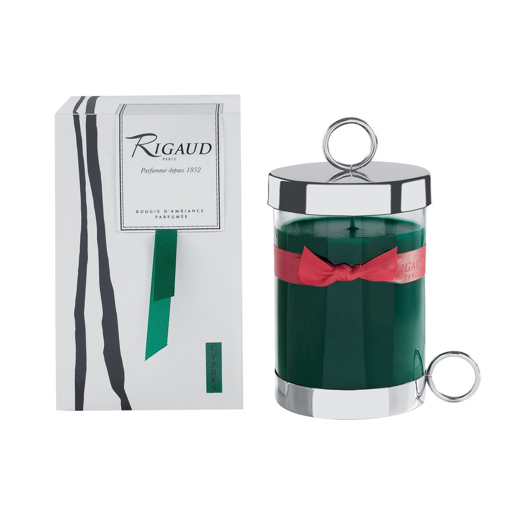 Rigaud Complete Large Standard Candle Cypres Green Forest
