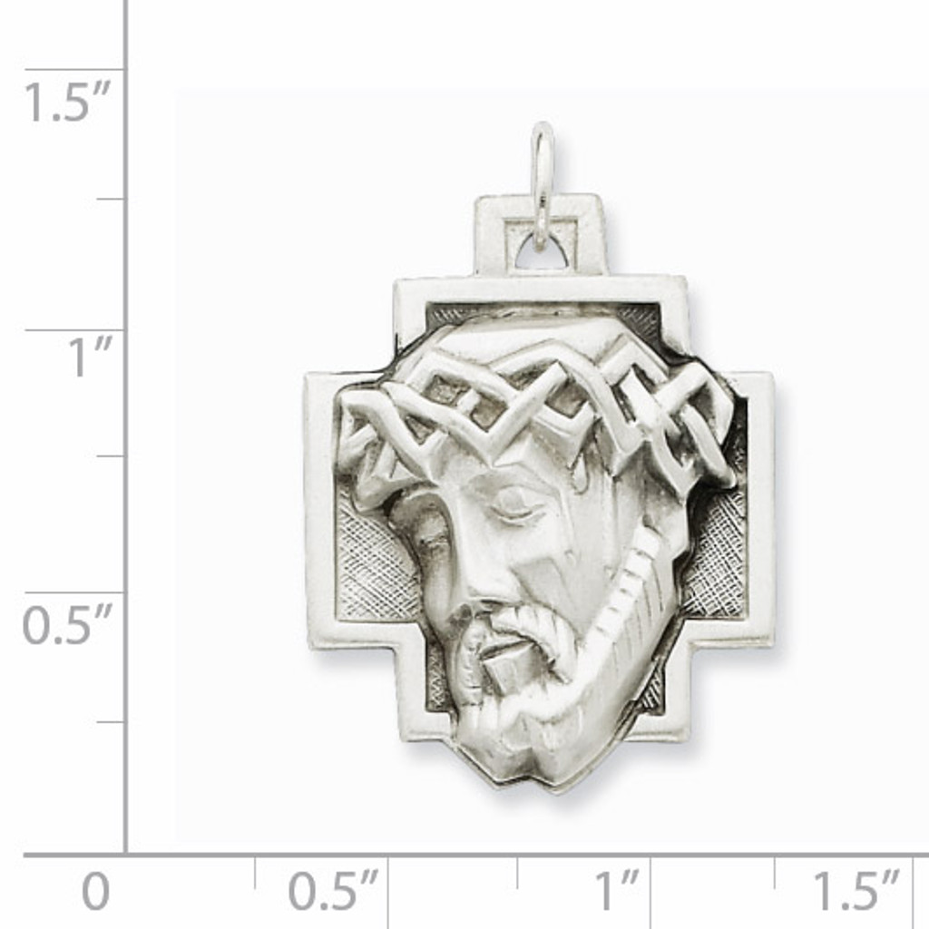 Ecce Homo Medal Sterling Silver QC448