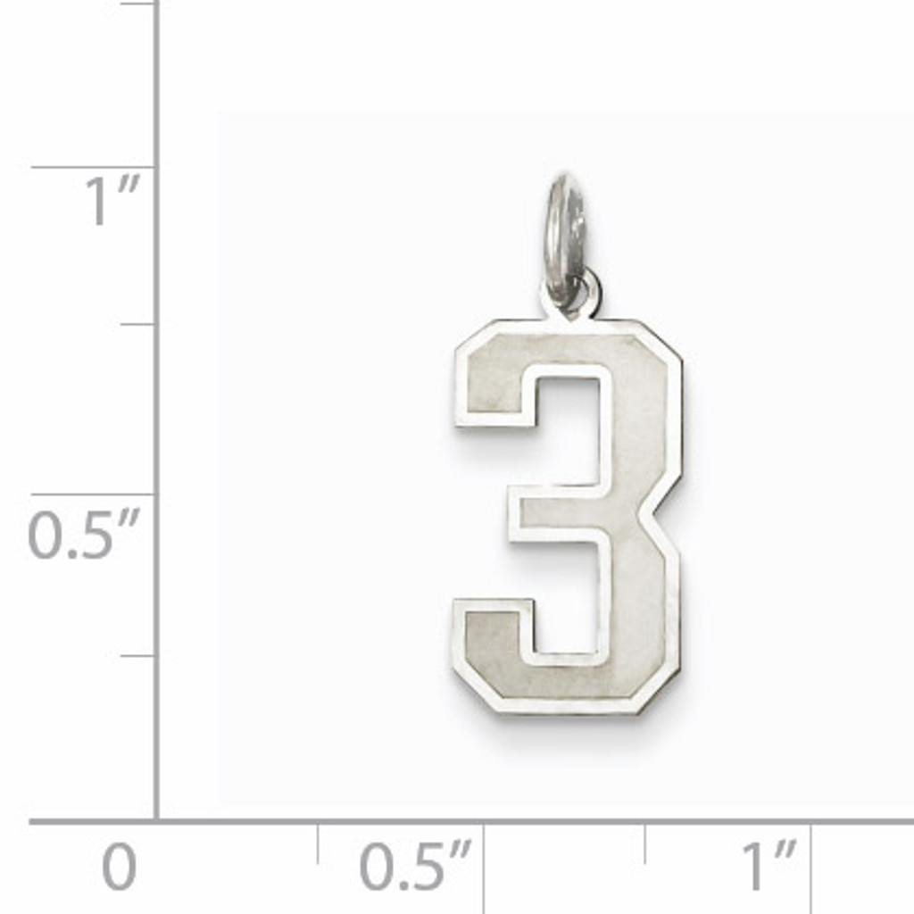 Medium satin number 3 pendant sterling silver homebello medium satin number 3 pendant sterling silver qpm03 mozeypictures Image collections