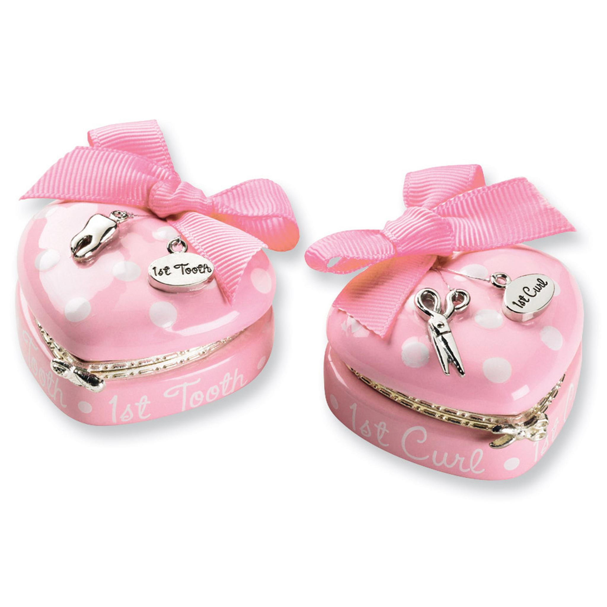 Pink Princess Heart Tooth & Curl Box Set - HomeBello