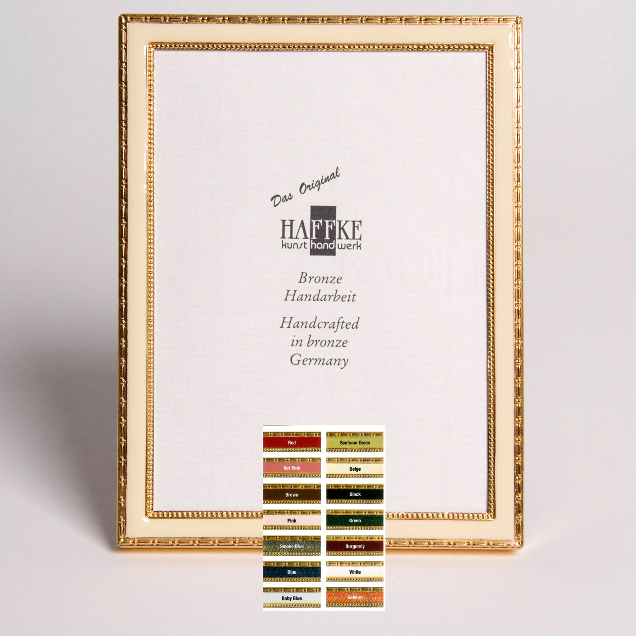 Haffke Bronze Enamel Picture Frame without Rose 2.5 x 3.5 Inch ...