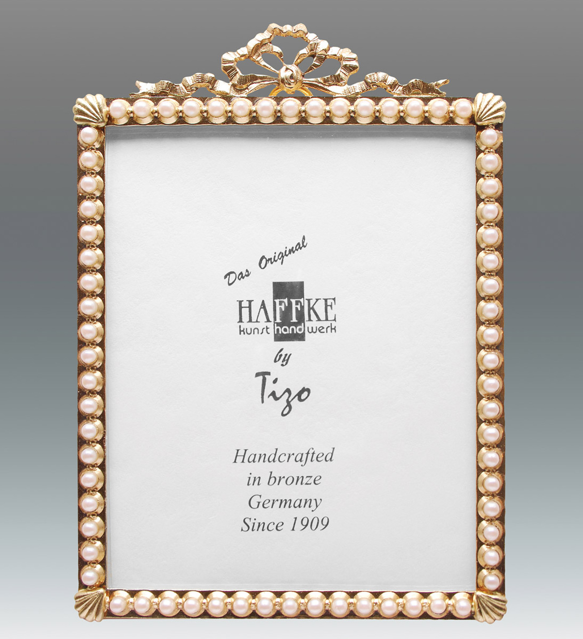 Haffke Bronze with Pearl Picture Frame 2.5 x 3.5 Inch - HomeBello