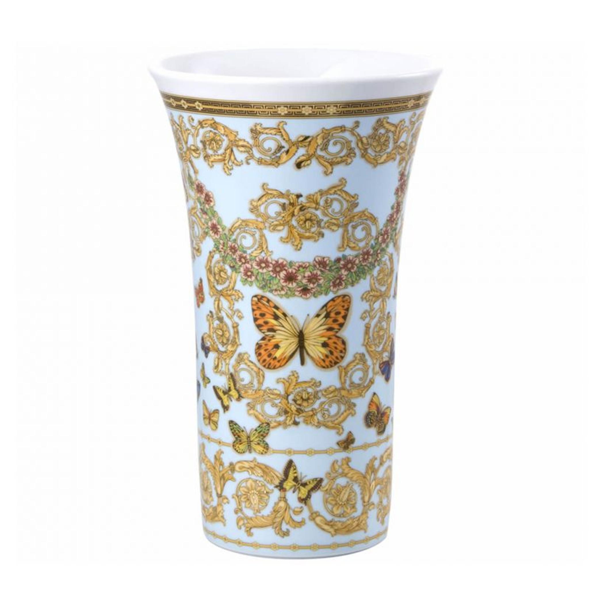 Versace Butterfly Garden Vase Porcelain 13 1 2 Inch Upc 790955127586 Homebello