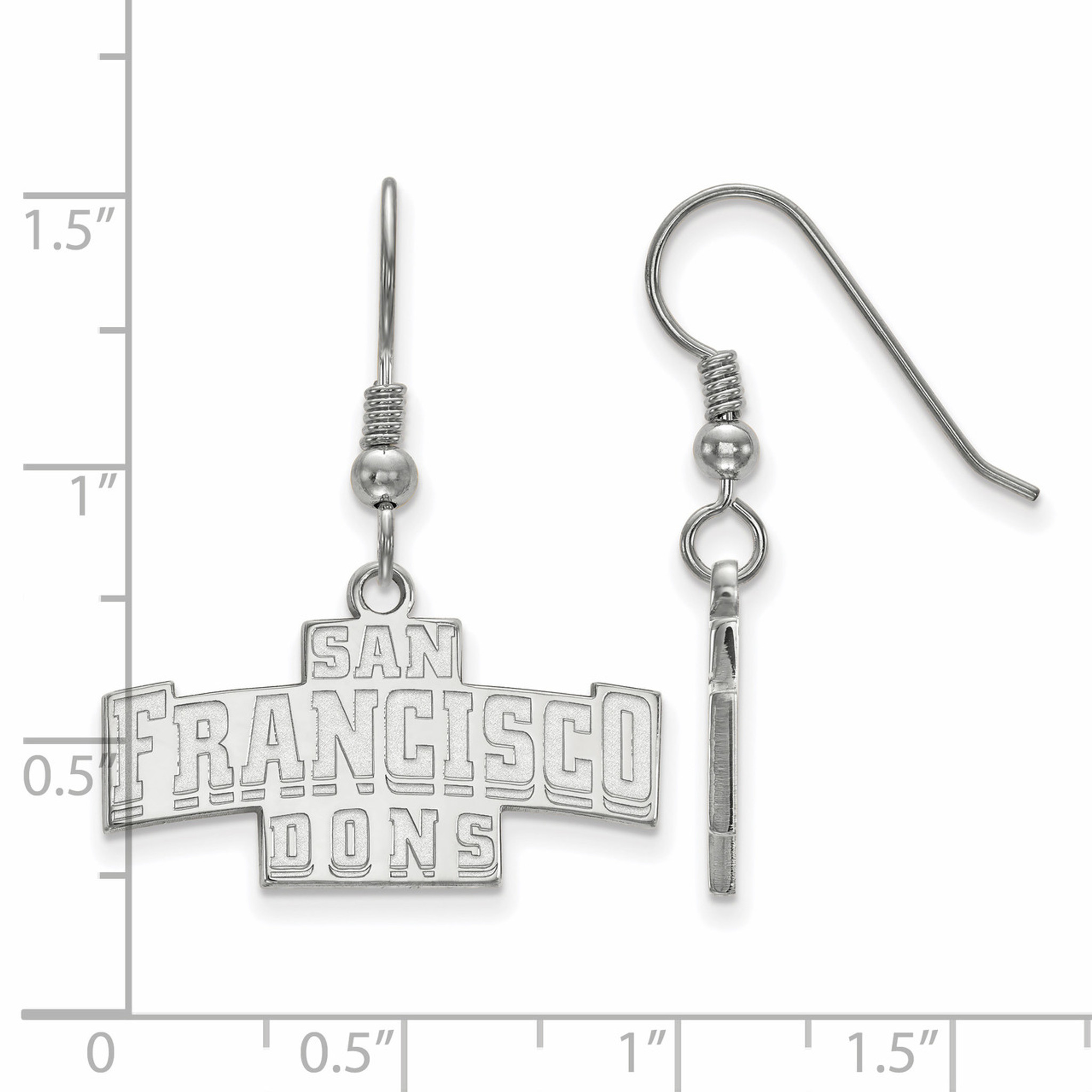 University of san francisco small dangle earring wire for Sf contact nackenkissen small