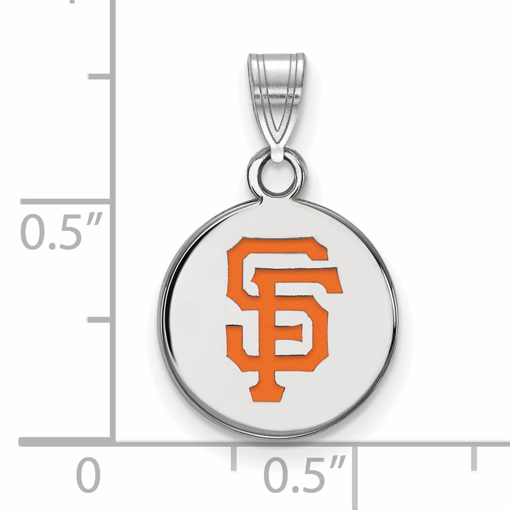 San francisco giants small enamel disc pendant sterling for Sf contact nackenkissen small