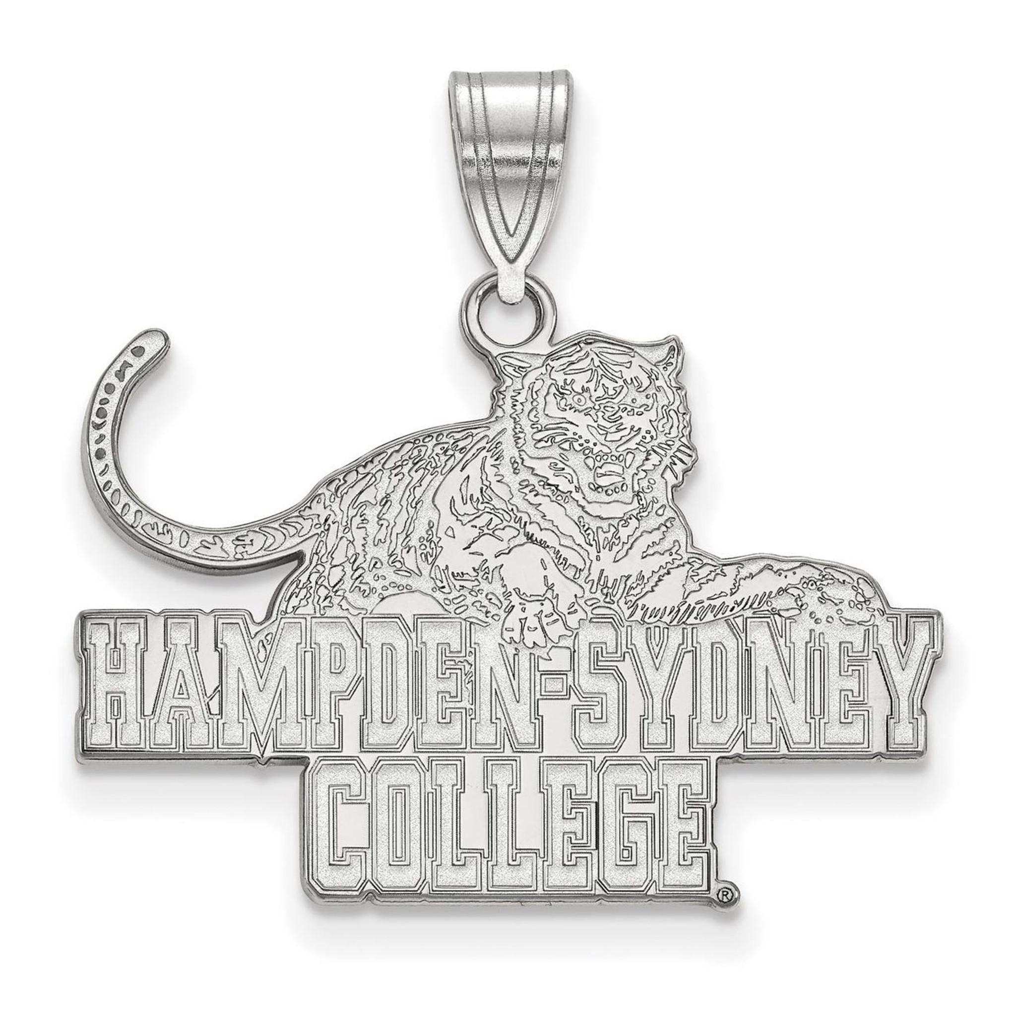 Hampden Sydney College Large Pendant 10k White Gold