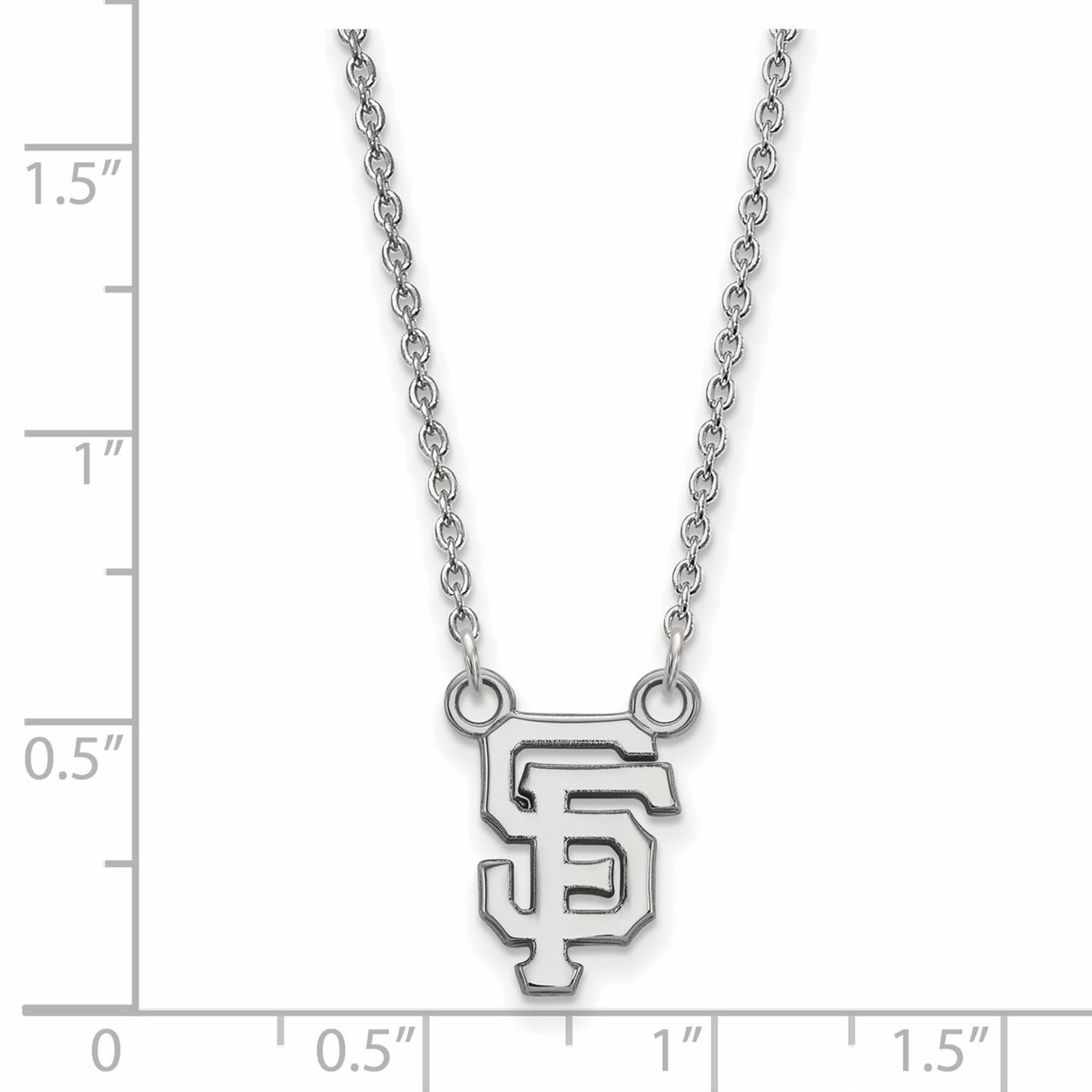 San francisco giants small pendant with chain necklace 10k for Sf contact nackenkissen small