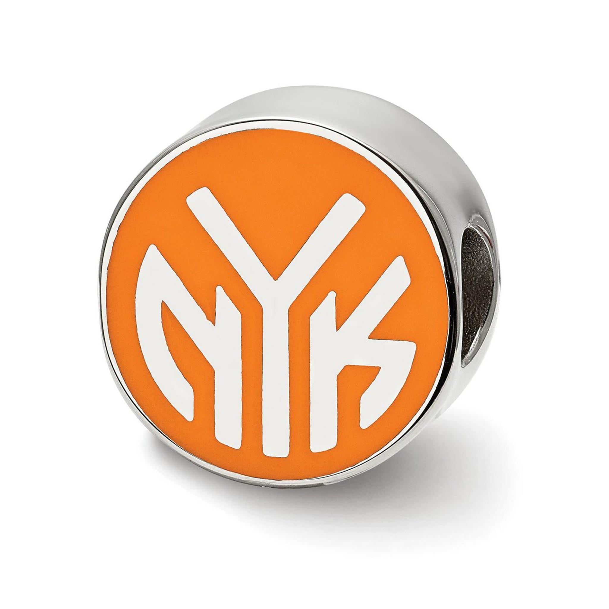 Nba Basketball New York Knicks: New York Knicks Knicks In Basketball Enameled Logo Bead