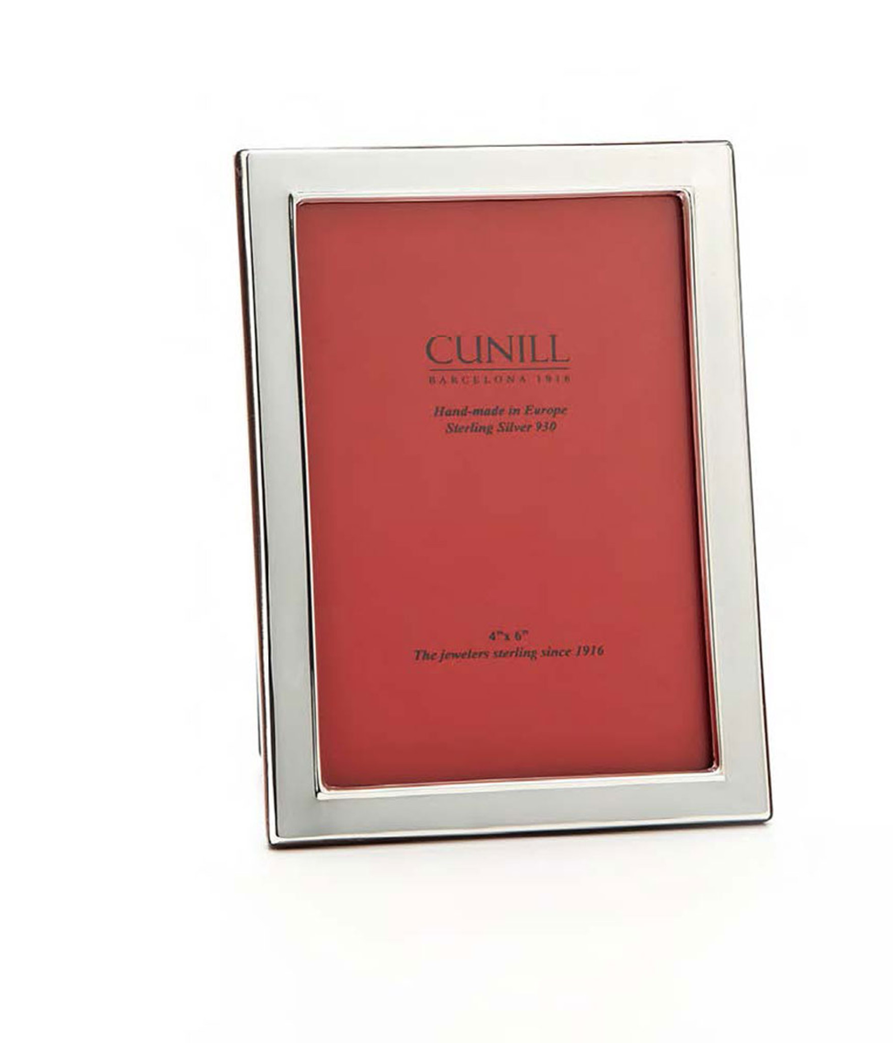 Cunill Barcelona Plain 1/2 Inch Border 4 X 6 Inch Picture Frame   Sterling