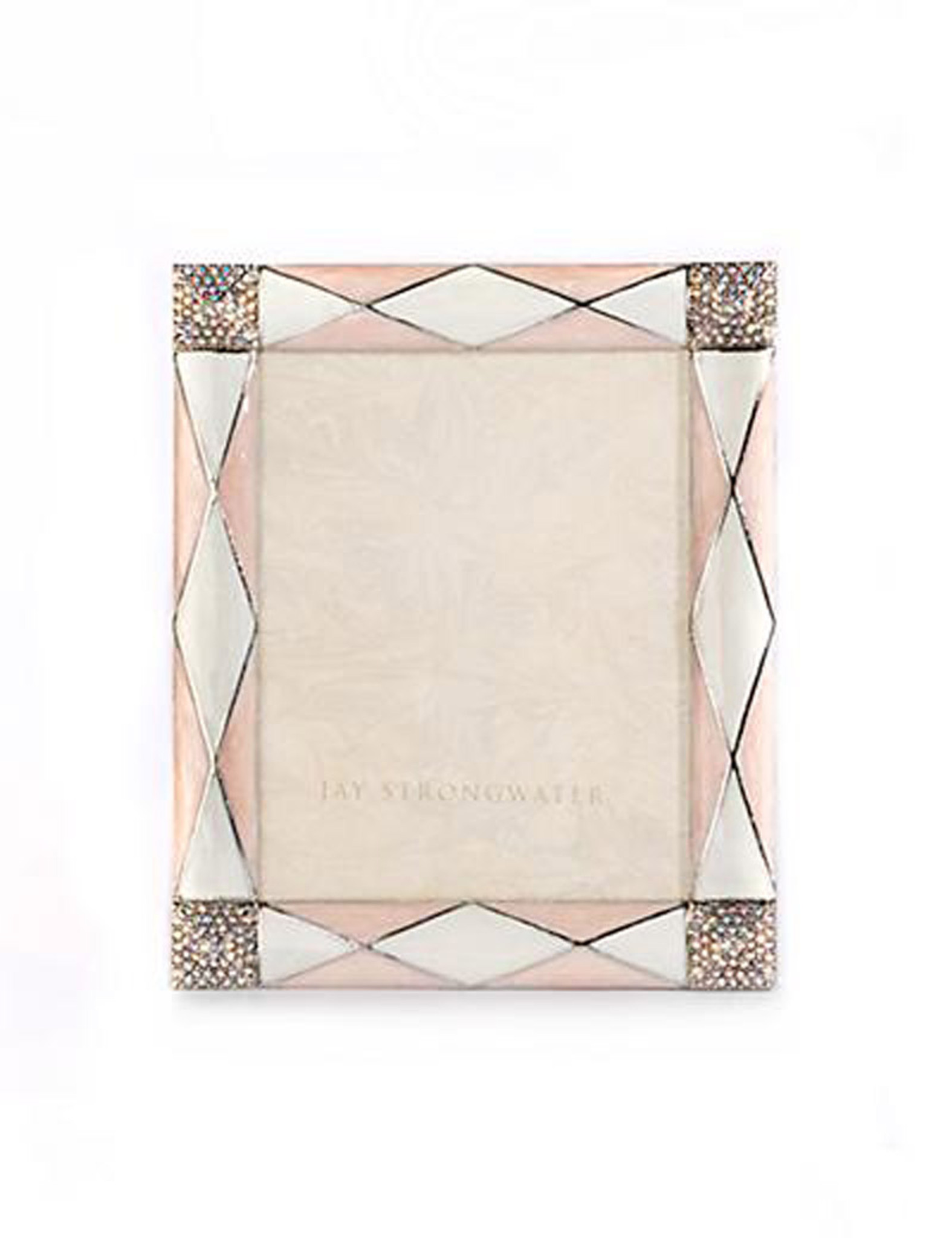 Jay Strongwater Alex Pale Pink Argyle 3 x 4 Inch Picture Frame ...