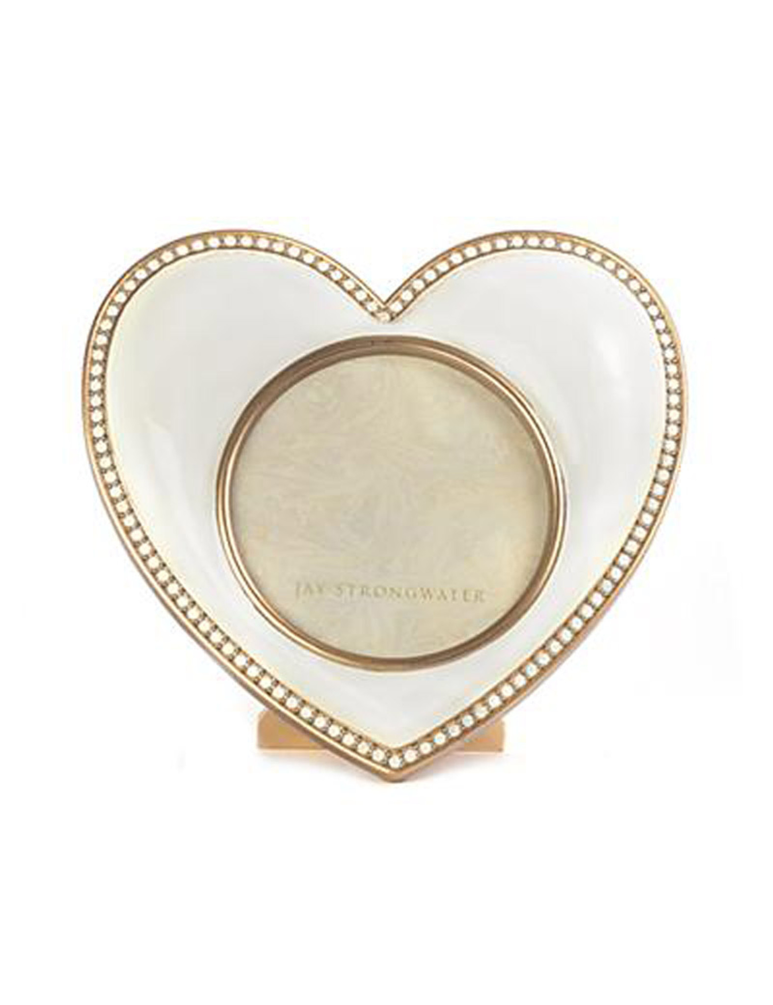 Jay Strongwater Chantal Gold Heart Picture Frame SPF5809-292 - HomeBello