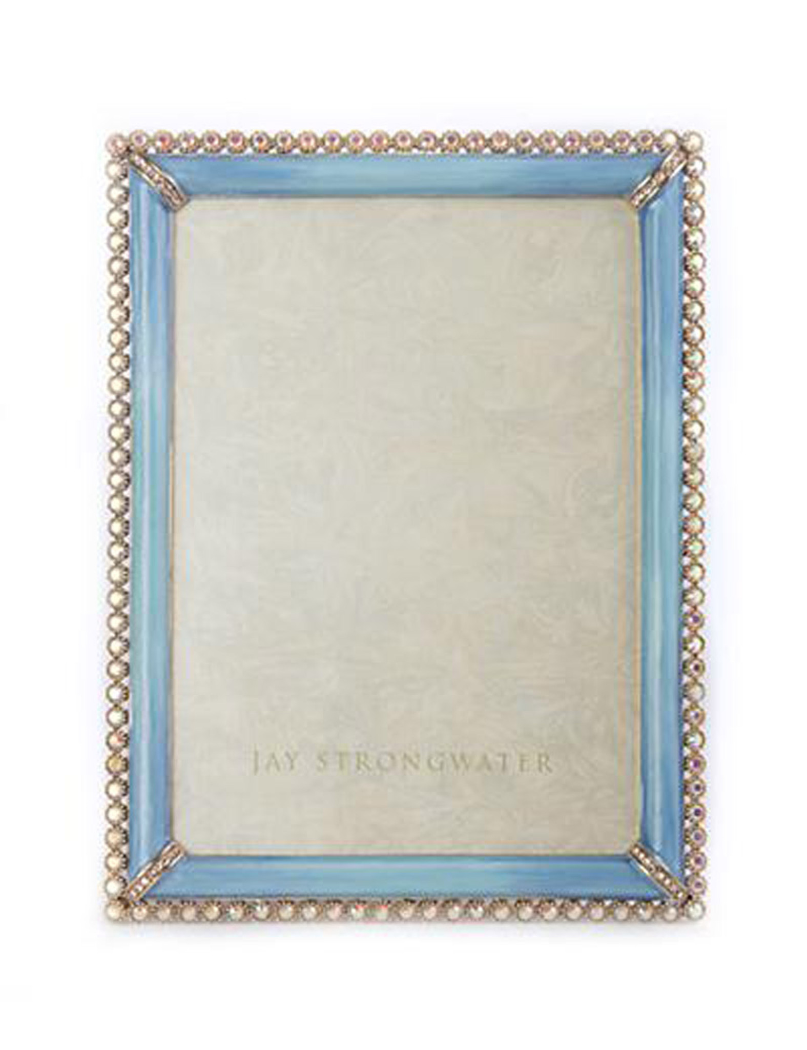 Jay Strongwater Lucas Periwinkle Stone Edge 5 x 7 Inch Picture Frame ...