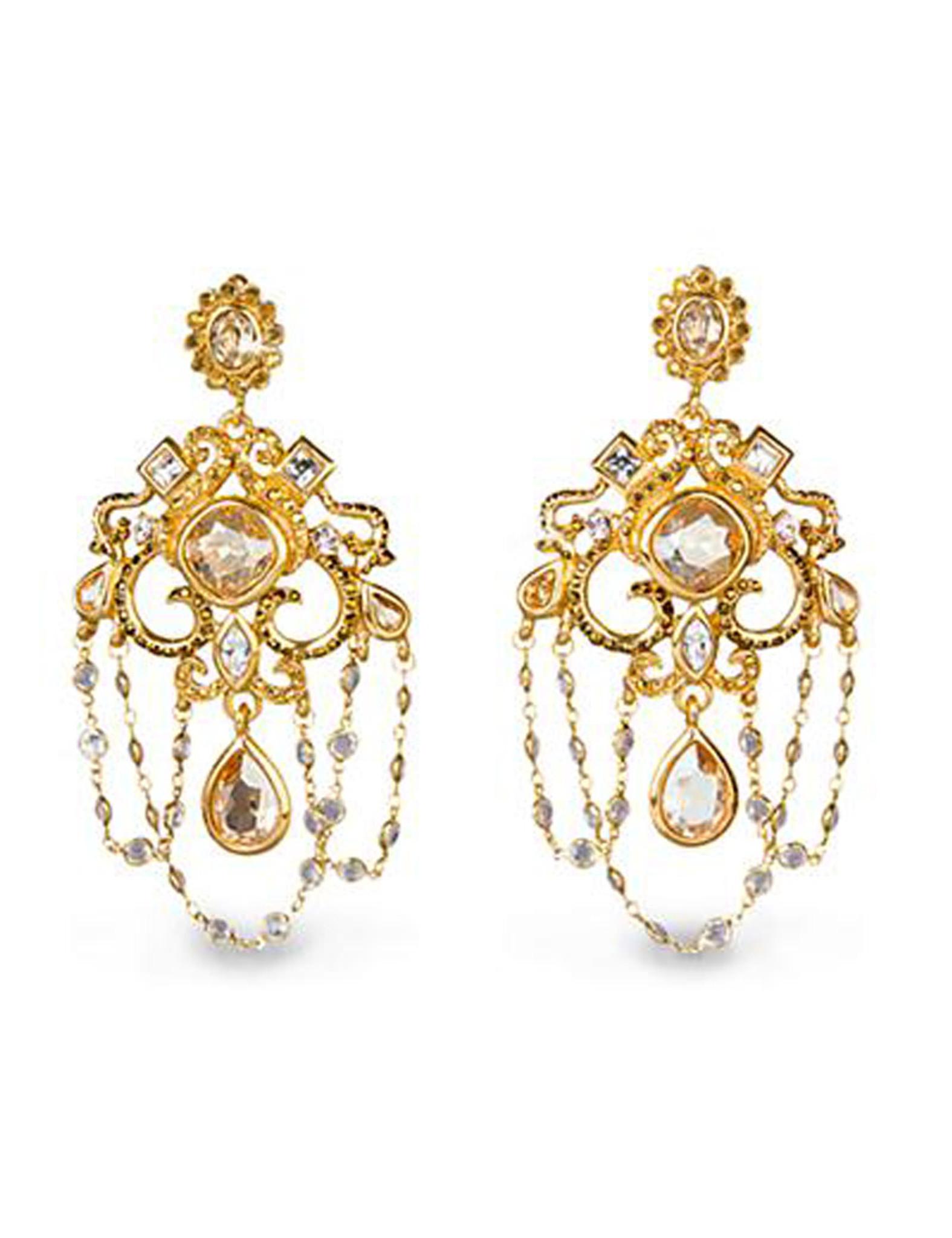 Jay strongwater golden chandelier clip earrings sj9252 232 homebello jay strongwater golden chandelier clip earrings mpn sj9252 232 aloadofball Image collections